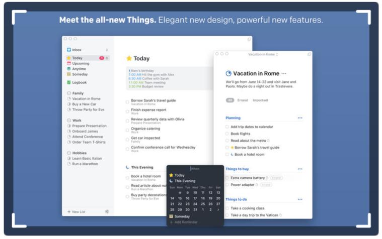 Things3: Organization application