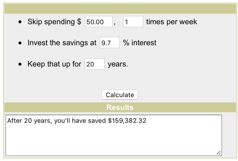 Booze Savings